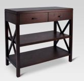Owings Console Table 2 shelf Espresso - Threshold