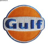 Vintage Embroidered GULF Sew On patch NOS