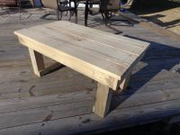 Deck table built from pallets
