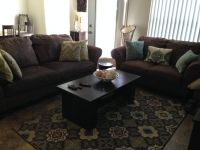 Sofa, loveseat, coffee table