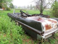 Sell 1957 cadillac series 62 CONVERTIBLE Parted out shell Roller bad floors rat rod motorcycle in Poolesville, Maryland, United States