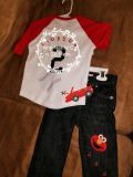 Personalized baby birtbday outfit