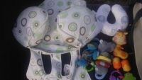 Shopping cart cover and infant toys