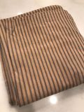 Pair of Lined ticking stripe curtain panels