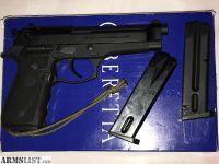 For Sale: Beretta 92FS 9MM w/ Factory Crimson Trace LaserGrips