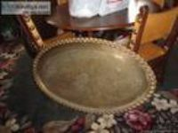 HUGE brass trays,vintage - Price: $ each