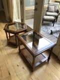 Wood/glass side tables