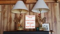 Vintage Chicken Lamps