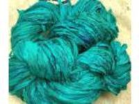 Sari silk ribbon 60 yds turquoises fair trade trim