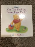 Easter Pooh lift the flap book EUC