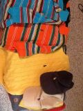 2 polo shirts, 1 polo sweater, 2 polo hats all new and all size Large