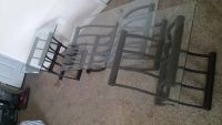 $80, Glass top coffee table with 2 end tables