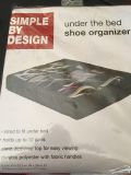 NEW under the bed shoe organizer holds 12 pair