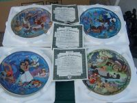 4 disney collectable plates from branford exchange