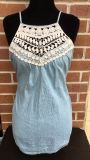 Woman s denim with lace sleeveless top size XXL. Perfect condition!