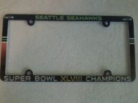Seahawks License Plate Frame Super Bowl XLVIII Champions (NEW) $12 each or 2 for $20