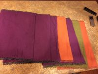 Six Pier One Jewel Tone Beaded Placemats-Mix & Match-Cleaning Out-Must Go!