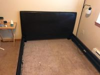Queen leather bed frame