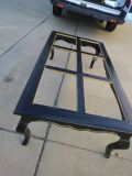 Black with Gold Trim Shabby Chic Coffee Table solid wood