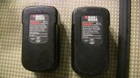 2 black & decker hpb18-ope 18 v battery packs for parts or rebuilding
