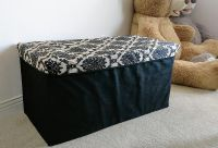 2 Storage ottomans - collapsible