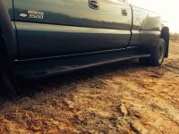 Chevy Dually running boards Rhino lined