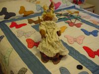 Bunny in wood rocking chair