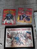 Ringling Brothers framed poster and 2 programs