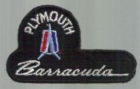 Find VTG PLYMOUTH BARRACUDA EMBROIDERED PATCH DRAG RACING GASSER MOPAR OLD NHRA AHRA motorcycle in Sacramento, California, United States, for US $14.98
