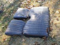 70-81 TRANS AM FIREBIRD ORIGINAL BLACK REAR SEAT SET 3 SEATS  455 428 400 CAMARO
