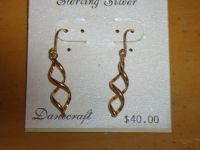 new 24K over sterling earrings