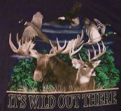 lifestyle classics xl it's wild out there t-shirt outdoors