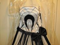 Black and White Ball Gown (Prom, quince, homeoming, formal wedding)