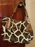 BROWN & GOLD ANIMAL PRINT PURSE,EXCELLENT CONDITION, SMOKE FREE HOUSE