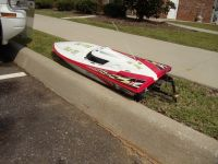 RACING SPEED BOAT; RADIO CONTROLLED; GAS OPERATED.