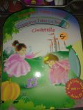 8 like new children's books with audio cds