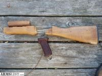 For Sale: Ak wood stock set with bakelite grip