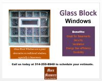 Glass Block Windows for Basements | Moes Masonry St Louis