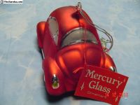 Christmas Mercury Glass Ornament