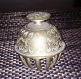 Old brass India cow bell