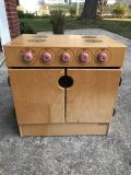 Childcraft wooden stove oven play kitchen piece