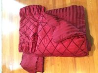 King comforter, bed skirt and 2 pillow shams
