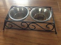 Small Pet bowls w/stand