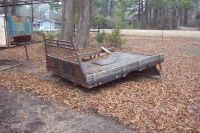 Flatbed with wood floor