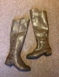 Women's Size 7.5 Brown Leather Riding Boots