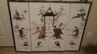 $50, Japanese 4 panel wall hanging