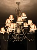 Gray and cream chandelier