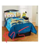 Minion bed set. Twin. PICK UP ONLY.