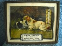 1940 Thermometer Add Kovack Bros Pictures-Hunting Dogs In Picture Frame Vintage