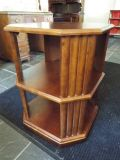 Table*Double Shelves*All Wood*Vintage*Spin*Heavy Duty*Like New